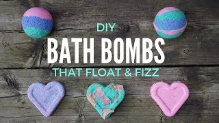 A quick and easy tutorial on how to make your own bath bombs that float, fizz! -colourful bombs, heart rose petal bombs. if you...