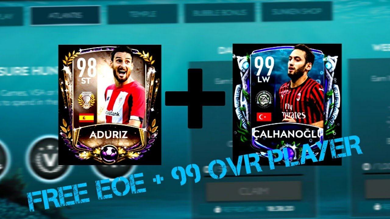 HOW TO GET FREE ADURIZ EOE WITH A 99 OVR PLAYER! FIFA MOBILE 20 TREASURE HUNT ATLANTIS!! F2P COUNT!!