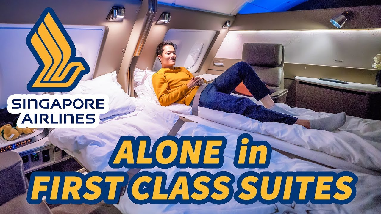 ALONE in NEW First Class Suites on Singapore Airlines A380