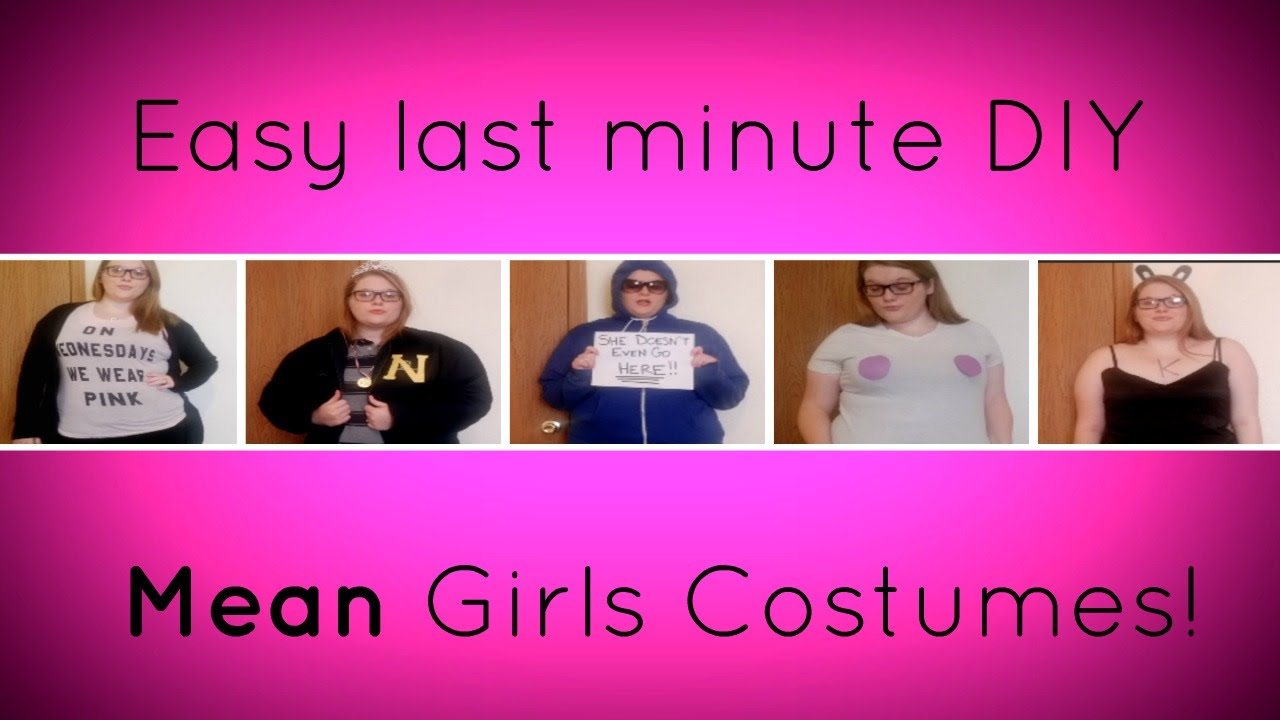 easy last minute diy mean girls halloween costumes! - youtube
