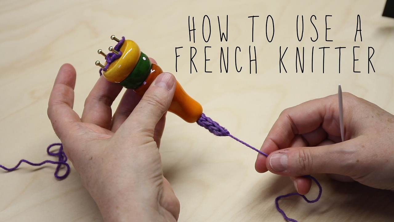 How to use a French Knitter - YouTube
