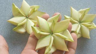 Cách làm hoa sen bằng lá dừa đơn giản đẹp (c3)