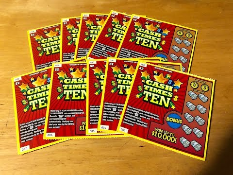 NEW WISCONSIN $2 TICKET CALLED CASH TIMES TEN! Wisconsin Lottery Scratch Offs!!