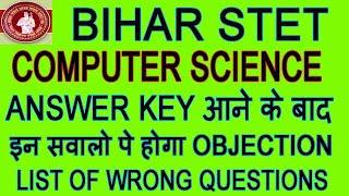 Bihar STET Computer Science Answer Key, Cut Off General, BC, SC Male, Bihar STET Result Date Trailer