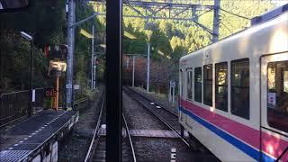 前面展望 叡山電車 紅葉シーズン 二軒茶屋ー鞍馬