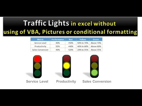 Traffic Lights In Excel Youtube