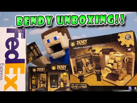 Bendy And The Ink Machine Lego Construction Sets HUGE UNBOXING! BATIM Mini Playsets Exclusive Toys
