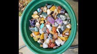 Polishing Gemstones with Thumler's 15 Pound Tumbler