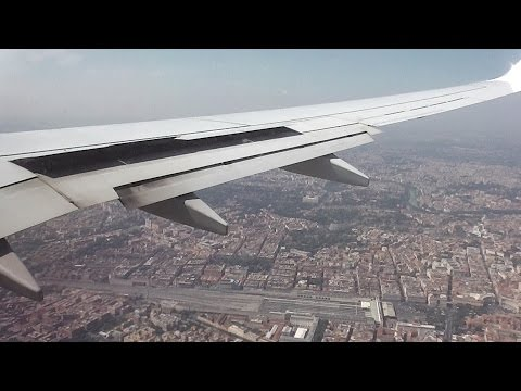 Landing at Ciampino Airport in Rome, Italy