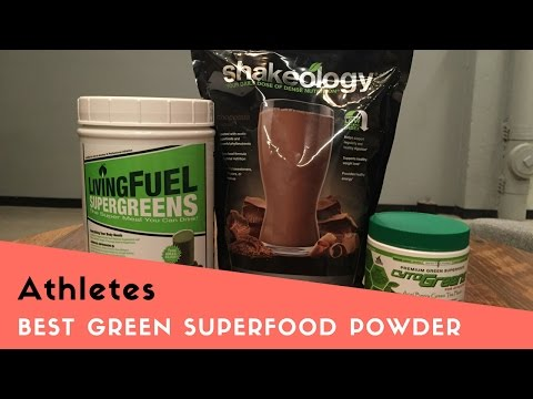 Best Green Superfood Powder Drinks for Athletes