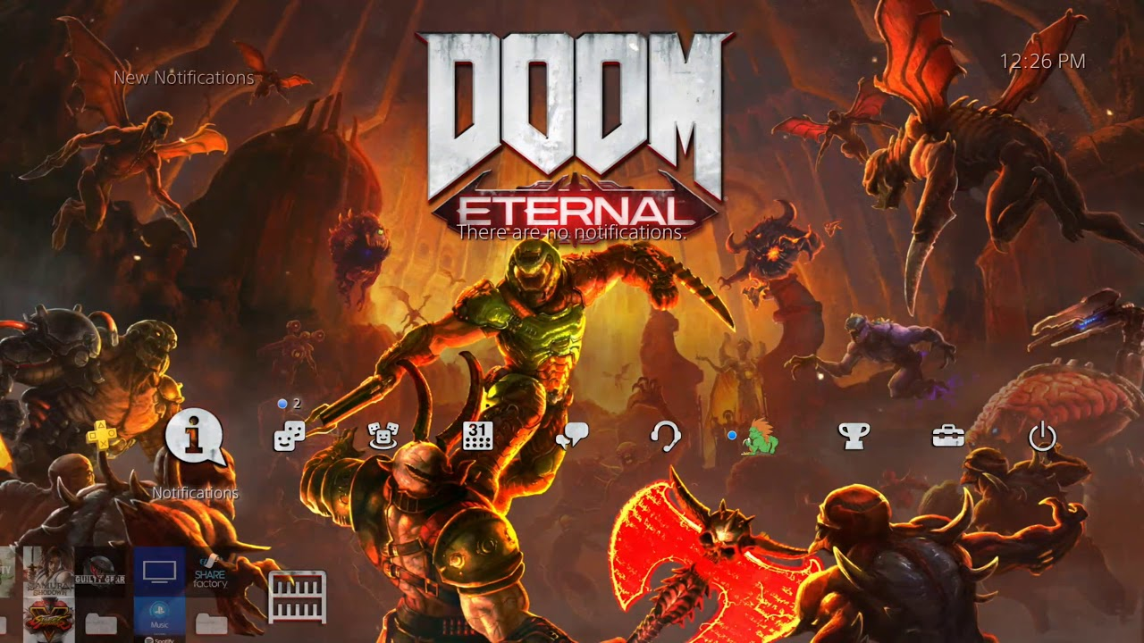 Doom Eternal Official Dynamic Theme Playstation 4 Youtube