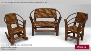 Art Deco Antique Miniature Furniture American Accessories