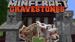 Minecraft : GRAVESTONES (WITHER DUNGEON, GRAVEYARDS, NEW VILLAGER) Mod Showcase