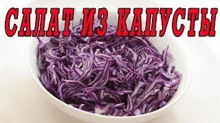Салат из красной капусты.Рецепты салатов.