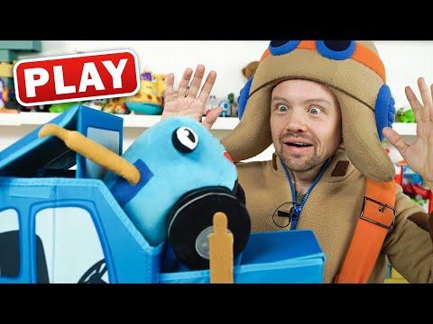 КукуPlay - РАСПАКОВКА - Коробка для игрушек и Синий Трактор - Поиграйка с Пилотом Винтиком
