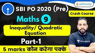 Download 4:00 PM - SBI PO 2020 (Prelims) | Maths by Arun Sir | Inequality/Quadratic Equation (Part-1)