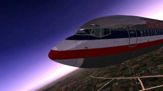 HD FSX-American Airlines Dallas to Los Angeles