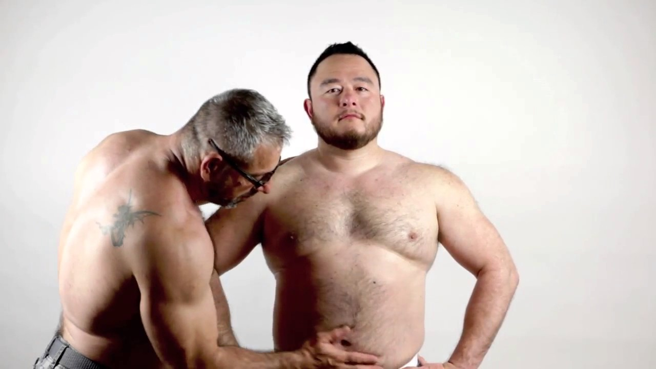 Romantic sex between daddy and young japanese bear