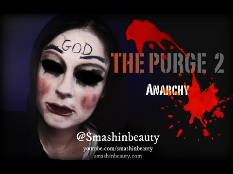 The Purge Anarchy God Mask Halloween Makeup Tutorial 2017 ...
