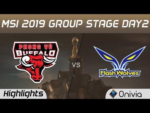 PVB Vs FW Highlights MSI 2019 Phong Vu Buffalo Vs Flash Wolves MSI Highlights By Onivia