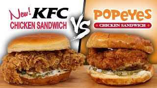 Is the New! KFC Chicken Sandwich BETTER than Popeyes?!