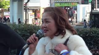 泰葉yasuha路上ゲリラLIVE&根本もね「ジパング」 泰葉 検索動画 2