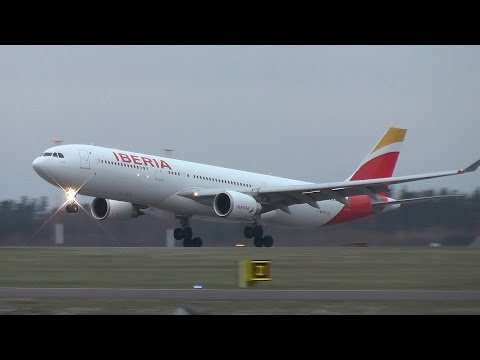 Iberia Airbus A330-300 smooth landing at Helsinki Airport | EC-LZJ | (leased for Finnair)