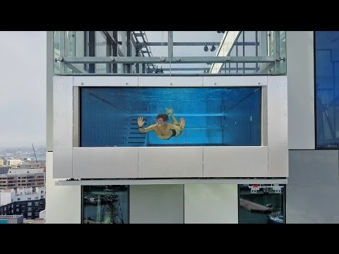 Thumbnail: GLASS SWIMMING POOL 1000 FEET IN THE SKY