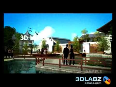 3D Walk through Animation Theme park - Flora Land, Chengdu, China ( PART 1)