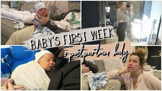 Baby's First Week, First Outing & PostPartum Body!