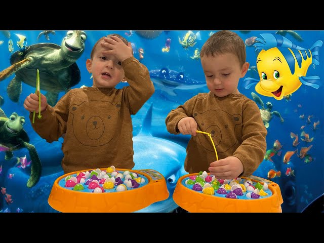 Ajan and Aaron - Five Little Fish Song | Nursery Rhyme | Baby Songs