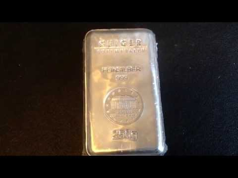 250 Gram Geiger Silver Bar Unboxing