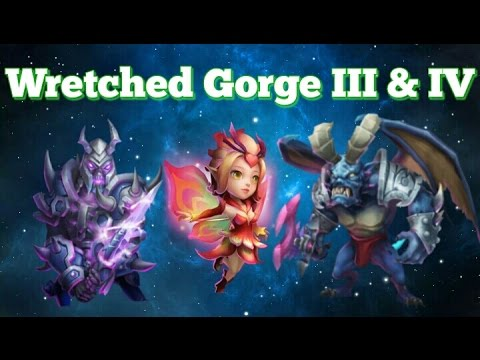 Castle Clash Wretched Gorge Lll & LV