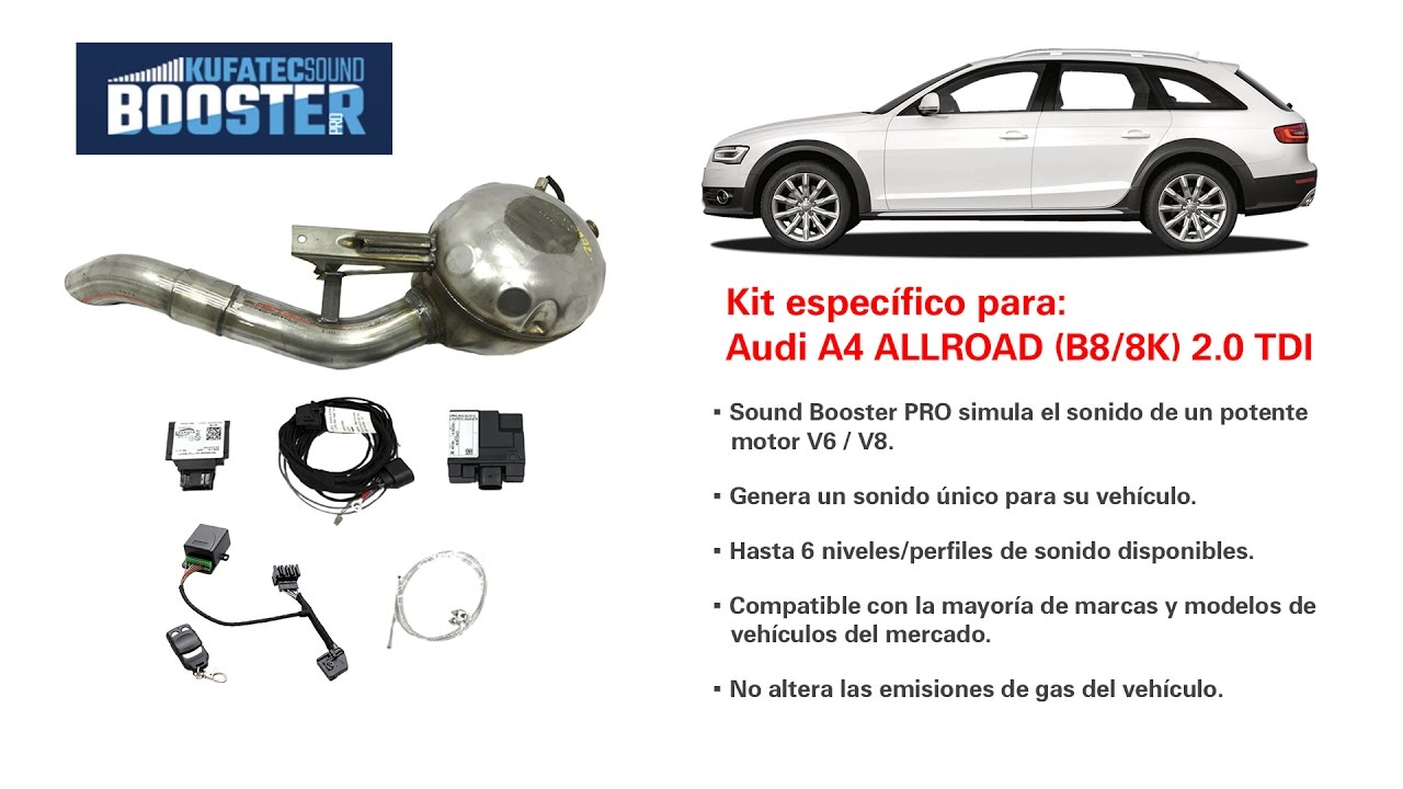 sound booster pro instalado en audi a4 allroad b8 8k 2 0. Black Bedroom Furniture Sets. Home Design Ideas