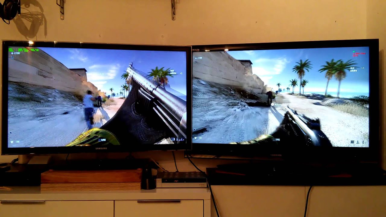 Serious Sam 3 BFE - Split screen on two TV Monitors