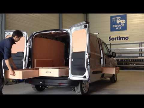 habillage bois double plancher tiroir pour combo cargo opel utilitaire par espace vu sarl 33370. Black Bedroom Furniture Sets. Home Design Ideas