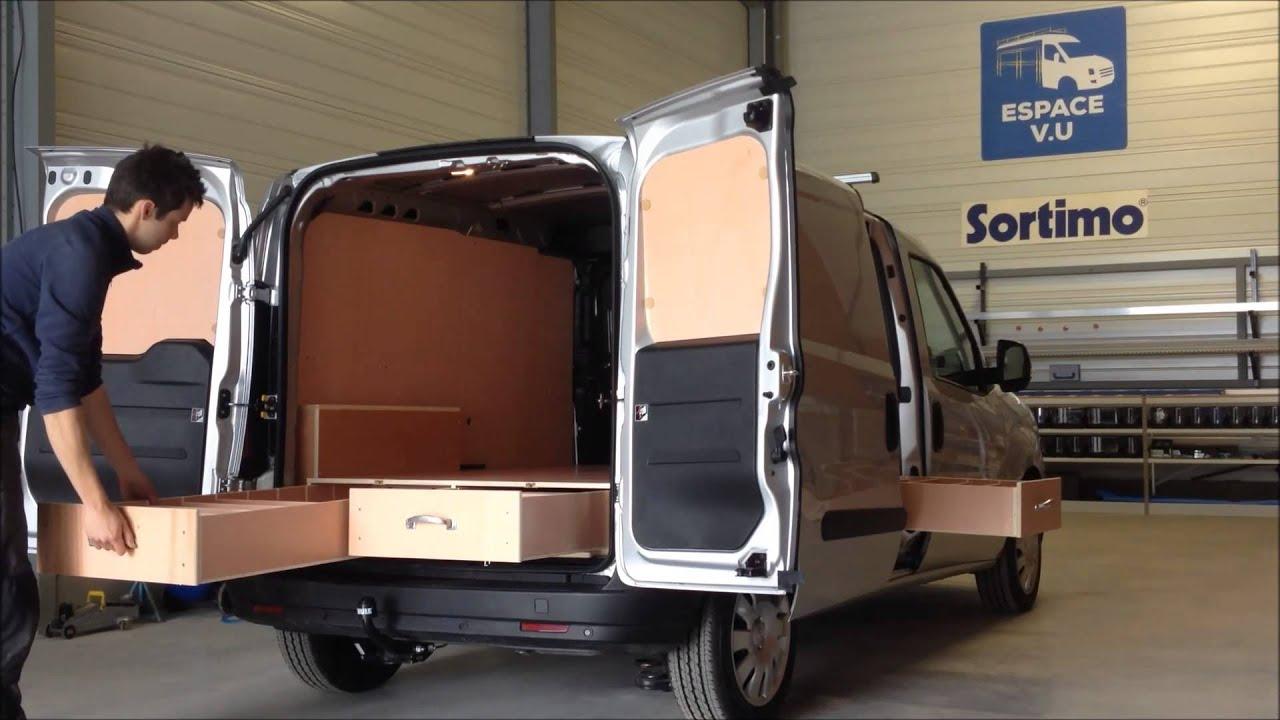 habillage bois double plancher tiroir pour combo cargo