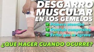 De desgarro gastrocnemio tratamiento muscular