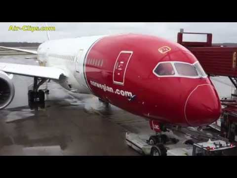 Norwegian Boeing 787-8 Dreamliner Premium Class Lauderdale-Stockholm [AirClips full flight series]