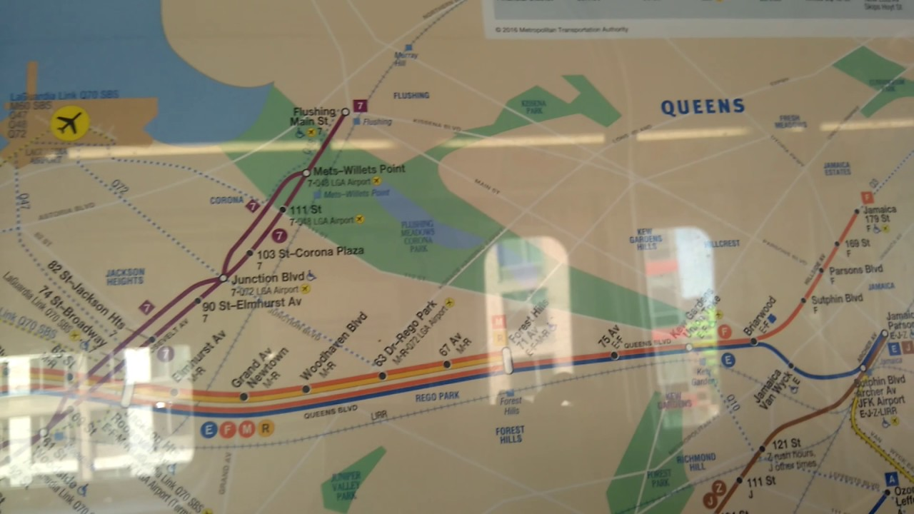 Astoria Subway Map.Mta November 2016 Subway Map Featuring The W On An Astoria Bound Q Train