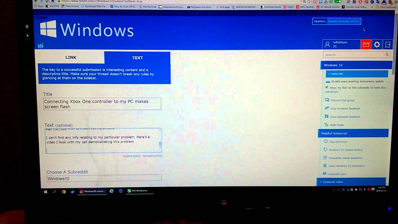 xbox one controller not working windows 10 reddit