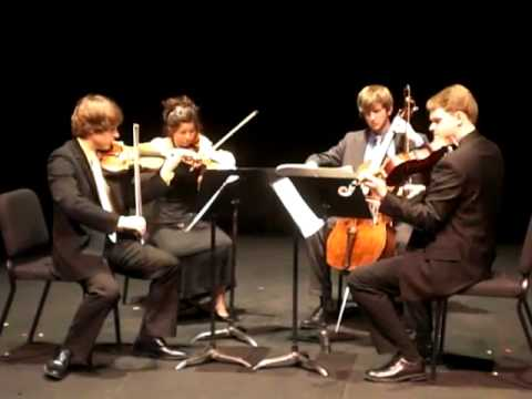 Aeolus Quartet performs Bartok Quartet No. 5 1. Allegro