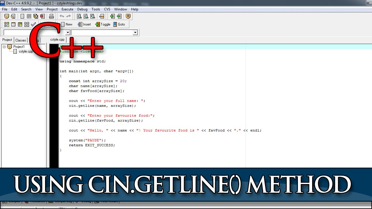 how to use getline in c++