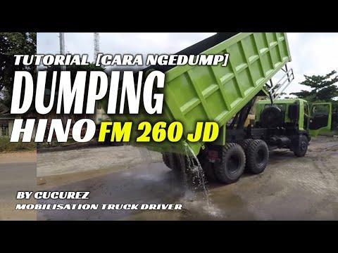 Driving Hino 500 Fm 260 Jd + [dumping Tutorial] Cara Ngedump For Beginer