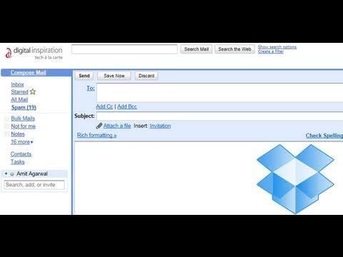 Send Files to Dropbox via Email