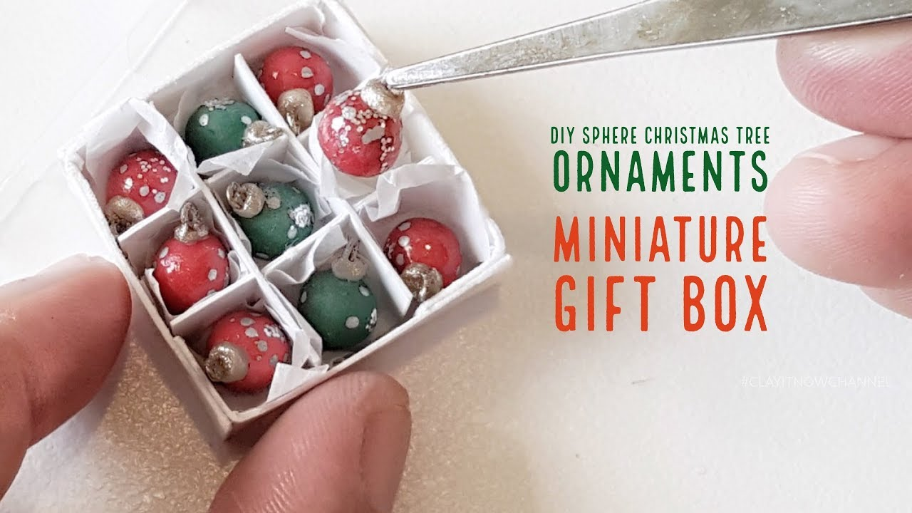 DIY Miniature Sphere Christmas Tree Ornaments Gift Box ...