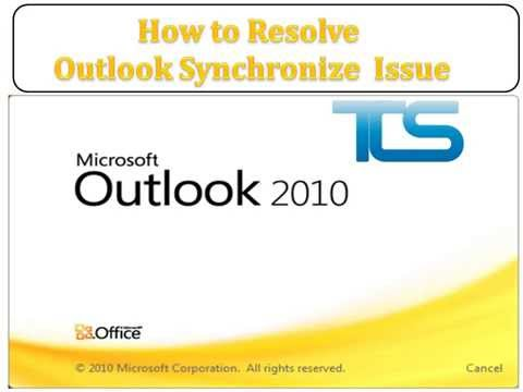 How to Resolve Outlook Synchronize Issue - YouTube