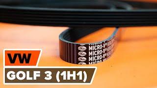 Монтаж на Многоклинов(пистов) ремък на VW GOLF: видео наръчници
