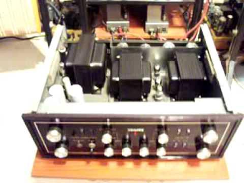 Tube amplifier Sansui AU-111 working, excellent hi-end sound