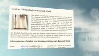 Geuther Türschutzgitter Easylock Wood